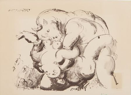 Lithographie Picasso (After) - Minotaur