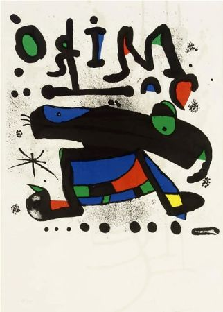 Affiche Miró - MIRÓ. Exhibition poster at Seibu Museum of Art,Tokyo 1978. Affiche originale.