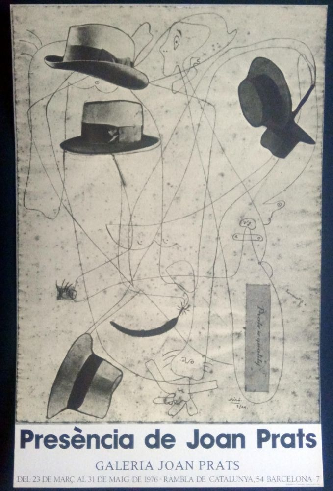 Affiche Miró - Miró - Prèsencia de Joan Prats 1976
