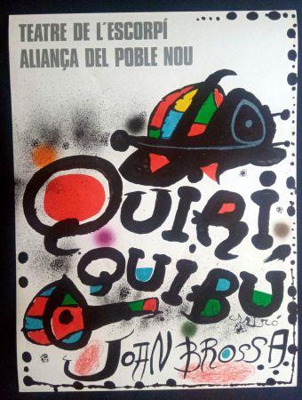 Affiche Miró - Miró - Teatre de l'escorpi Quiri Quibu Joan Brossa 1976