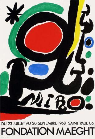Affiche Miró - MIRO À LA FONDATION MAEGHT. Exposition de l'été 1968.