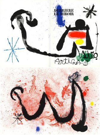 Lithographie Miró - MIRO - ARTIGAS, Terres de grand feu. Derrière le Miroir n° 139-140. Juin-Juillet 1963.