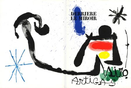 Livre Illustré Miró - MIRO - ARTIGAS, Terres de grand feu. Derrière le Miroir n° 139-140. Juin-Juillet 1963.