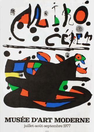 Affiche Miró - MIRO - CÉRET. Musée d'Art Moderne 1977. Affiche originale.
