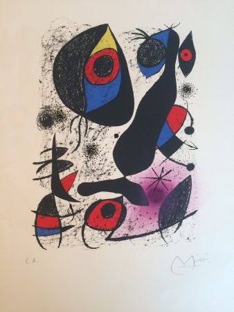 Lithographie Miró - Miro A L'encre