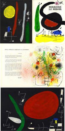 Lithographie Miró - MIRO. L'OISEAU SOLAIRE, L'OISEAU LUNAIRE, ÉTINCELLES. Derrière Le Miroir n° 164-165. Avril-Mai 1967