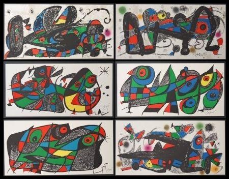 Lithographie Miró - Miro sculpteur / 6 lithographies