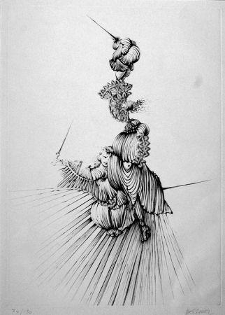 Eau-Forte Bellmer - Miroir De Songes