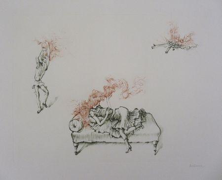Gravure Bellmer - Miroir Des Songes Pl.12
