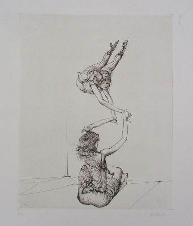 Gravure Bellmer - Miroir des songes Pl.6