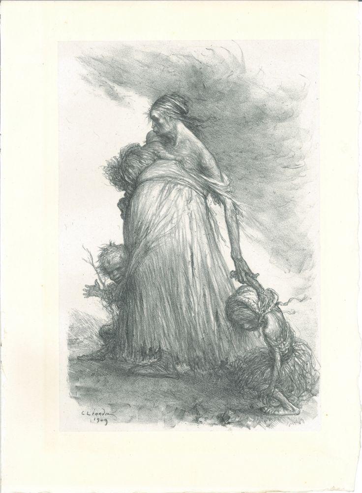 Lithographie Léandre - Misère fertile — Sol stérile (Fertile Misery—Sterile Earth)