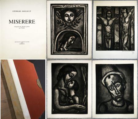 Livre Illustré Rouault - MISERERE. 58 gravures. La suite complète des 58 gravures. Éditions de l'étoile filante, 1948