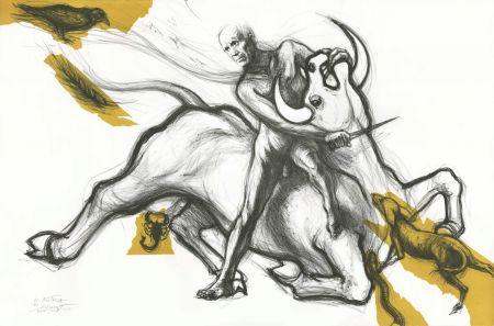 Lithographie Pignon-Ernest - Mithra