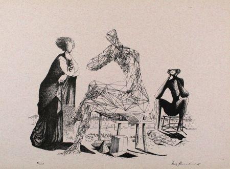 Lithographie Zimmermann - Mittag