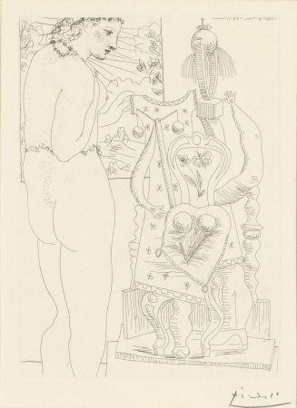 Eau-Forte Picasso - Modele et sculpture surrealiste
