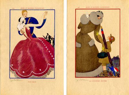 Livre Illustré Lepape - MODES ET MANIÈRES D'AUJOURD' HUI. Années de Guerre. 1914-1919