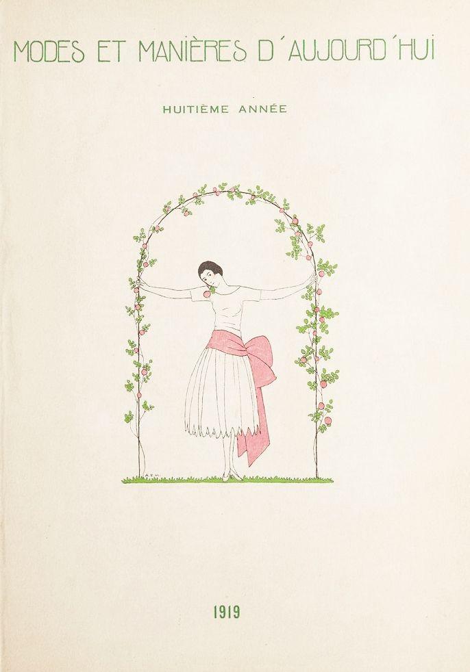 Livre Illustré Marty - MODES ET MANIÈRES D'AUJOURD' HUI. Huitième Année. 1919