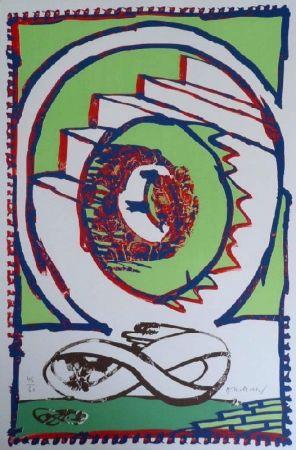 Lithographie Alechinsky - Moebius