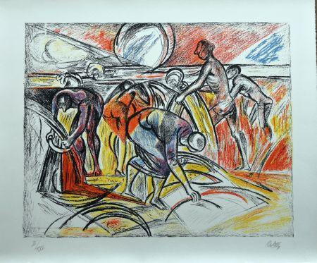 Lithographie Carletti - Momenti Biblici 3