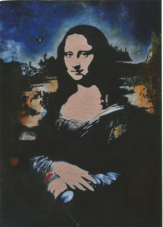 Sérigraphie Blek Le Rat - Mona Lisa