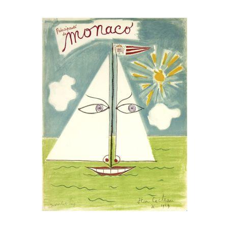 Lithographie Cocteau - Monaco