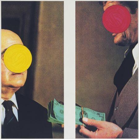 Sérigraphie Baldessari -  Money with Space Between