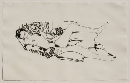 Eau-Forte Et Aquatinte Wesselmann - Monica Nude with Matisse