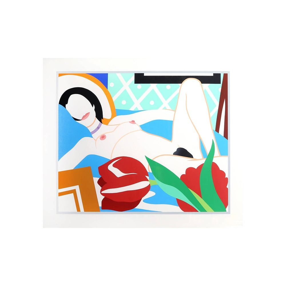 Sérigraphie Wesselmann - Monica Nude with Tulips