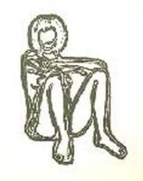 Lithographie Wesselmann - Monica sitting with elbows on knees