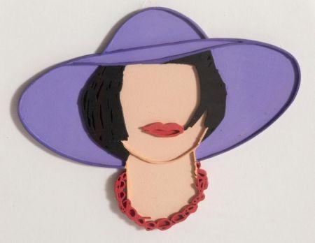 Multiple Wesselmann - Monica with a Purple Hat (unique variation)