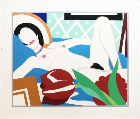 Sérigraphie Wesselmann - Monica with Tulips