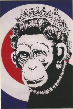 Sérigraphie Banksy - Monkey Queen