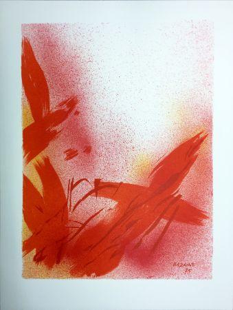Lithographie Bazaine - MONOGRAPHIE EN ROUGE (1975) sur vélin de Rives.