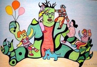 Lithographie De Saint Phalle - Monster