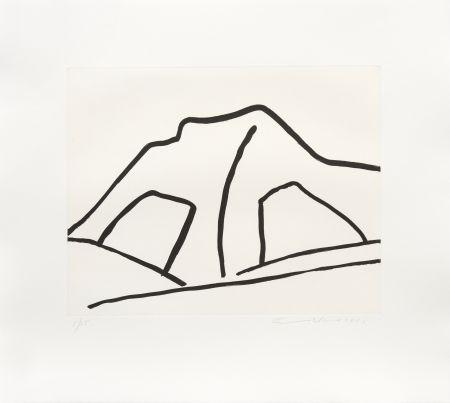 Gravure Adnan - Montagne I