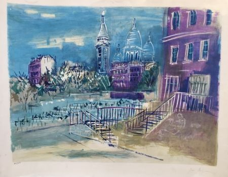 Lithographie Dufy - Montmartre