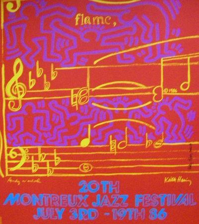 Affiche Haring - Montreux jazz festival hand signed