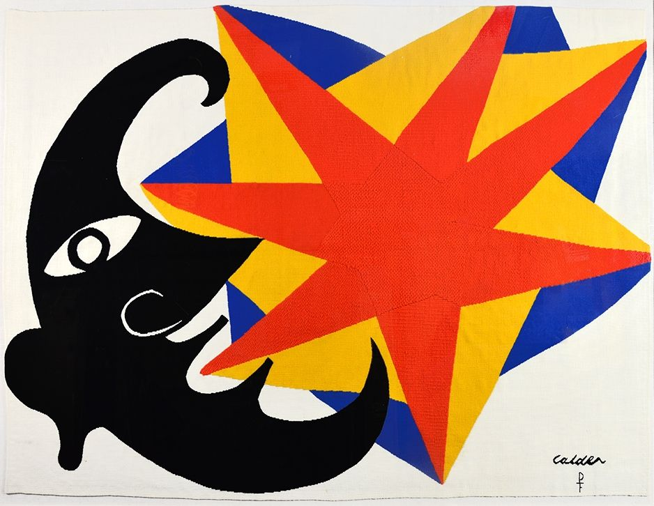 Aucune Technique Calder - Moon and Star Tapestry