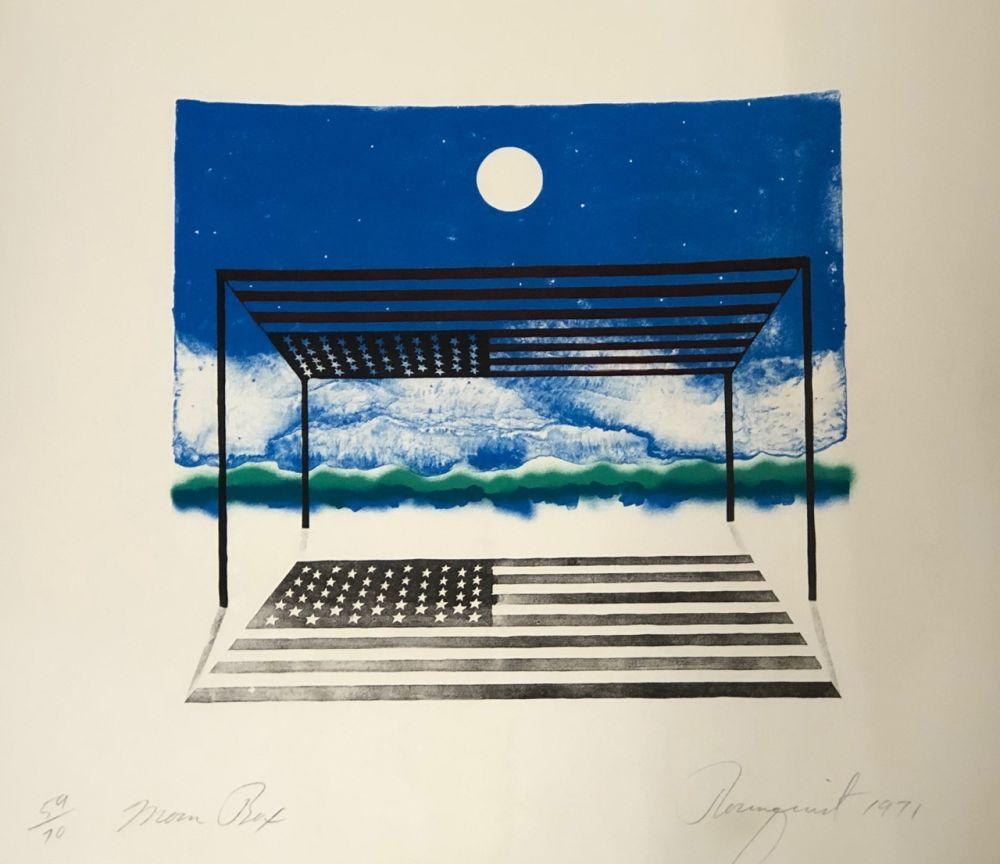 Lithographie Rosenquist - Moon box