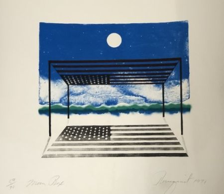 Lithographie Rosenquist - Moon box