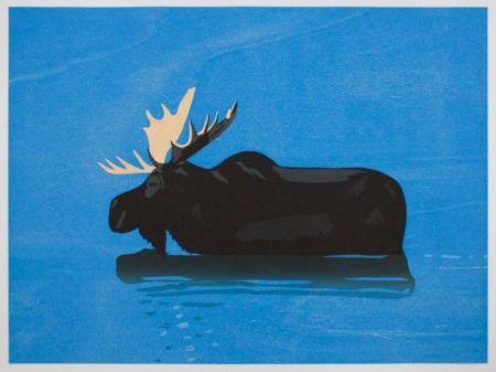 Gravure Sur Bois Katz - Moose