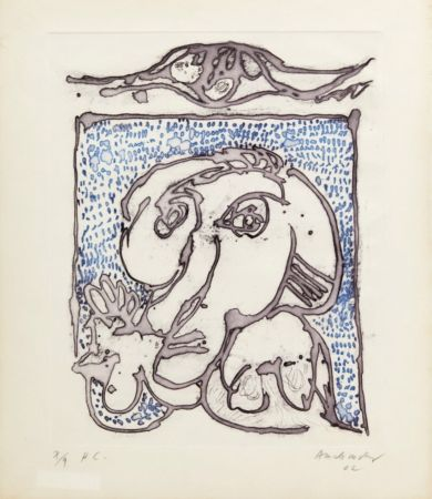 Aquatinte Alechinsky - Morsures VIII