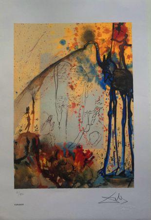 Lithographie Dali - Mosè e il monoteismo