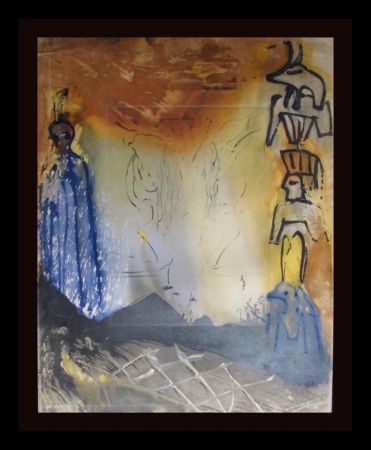 Gravure Dali - Moses and Monotheism Nightmare of Moses