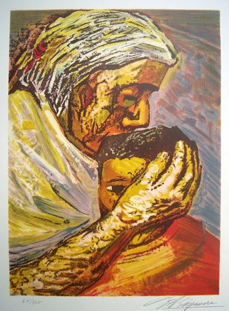 Lithographie Siqueiros - Mother and Child