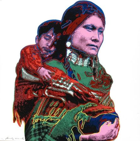 Sérigraphie Warhol - Mother And Child