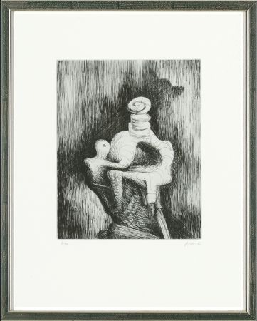 Eau-Forte Moore - Mother and Child, 1979