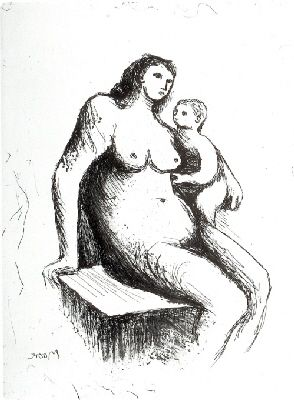 Gravure Moore - Mother and Child V