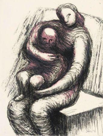 Eau-Forte Et Aquatinte Moore - Mother and Child XI