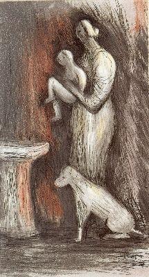 Eau-Forte Et Aquatinte Moore - Mother and Child XXIII